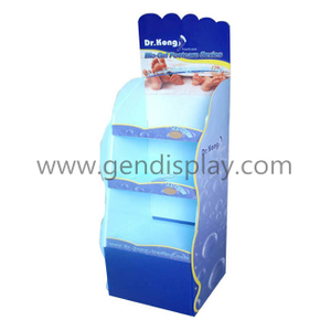 Promotional Cardboard Shoes Floor Display Stand, Shoes Display (GEN-FD330)
