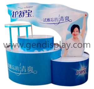 Promotional Cardboard Lady Napkin Pallet Display Stand (GEN-PD017)