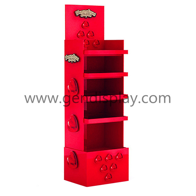 Supermarket Cardboard Floor Display Shelf For Gift Promotion(GEN-FD132)