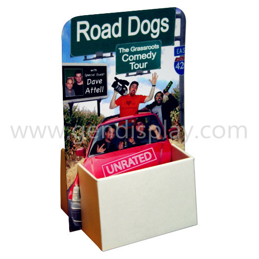 Promotional Cardboard Brochures Counter Display Stand (GEN-CD067)
