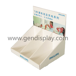 Pop Cardboard Philips Battery Counter Display Box(GEN-CD143)