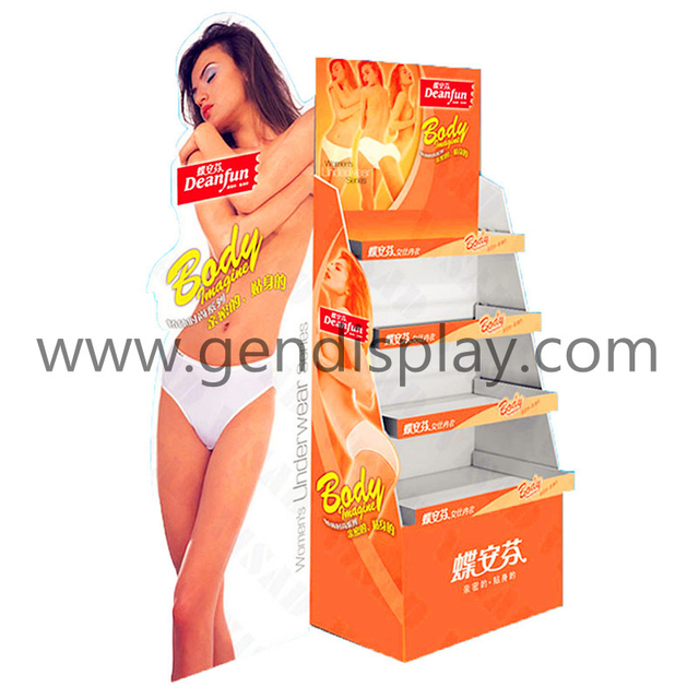 Promotional Cardboard Clothes Display, Garments Floor Display (GEN-FD118)