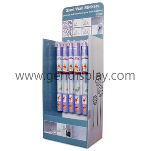 Promotional Cardboard Floor Display Stand For Wall Stickers(GEN-FD303)