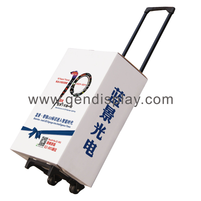 Cardboard Trolley Box, Trolley Carton with handler (GEN-TB015F)