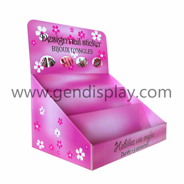 Pop Full Color Printing Cardboard Counter Display For Cosmetic (GEN-CD189)