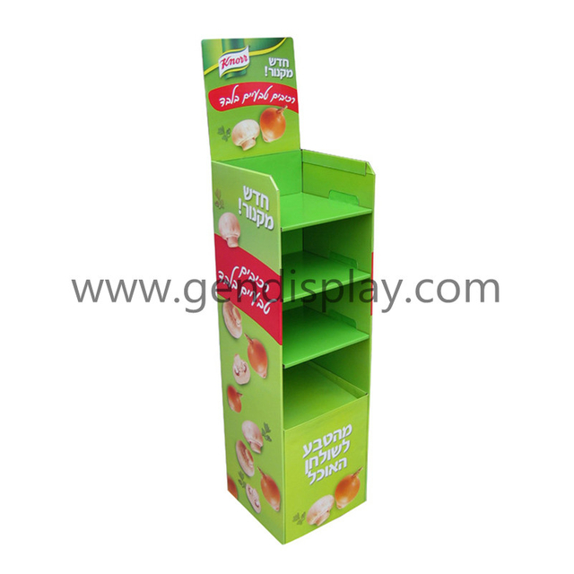 Cardboard Display Stand, Cusotm Floor Display Shelf (GEN-FD073)