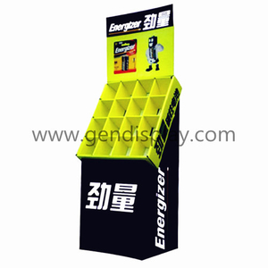 Retail Cardboard Floor Compartment Display Unit For Battery Promotion (GEN-CP022)