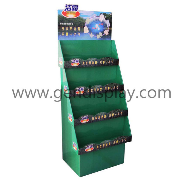 Trapeziform Floor Display Stands , Retail Display Unit(GEN-FD015)