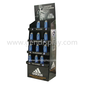 Cardboard Adidas Sport Perfume Floor Display Stand, Floor Display (GEN-FD318)