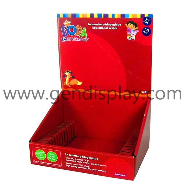 Pos Cardboard Cards Counter Display, Custom PDQ Box (GEN-PDQ011)
