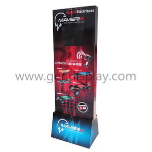 POS Cardboard Floor Display Stand With LED Screen For Skate Advertising(GEN-FD311)