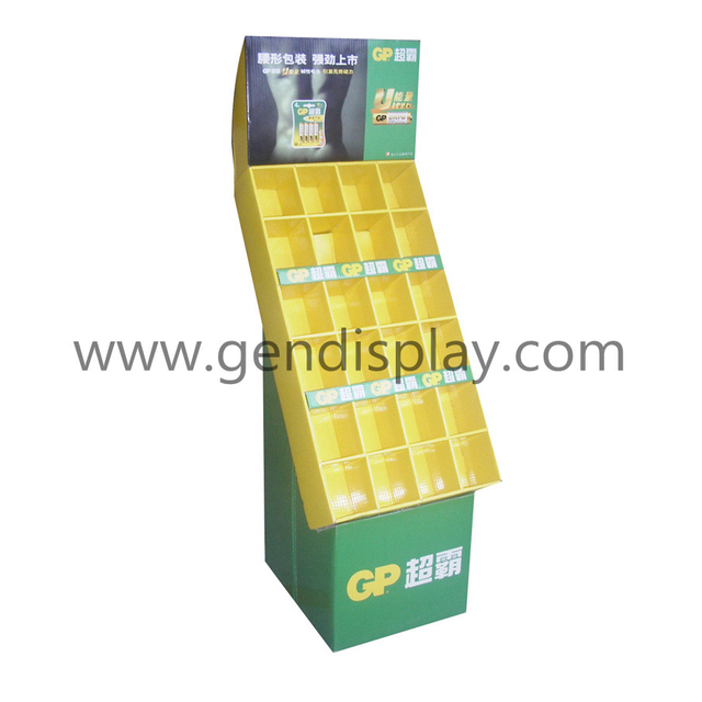 Floor Compartments Display Stand For Battery Promotion (GEN-FD010)