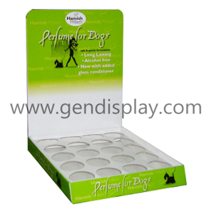 Cardboard Counter Display Box With Holes For Pet Products (GEN-CD045)
