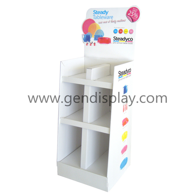 Cardboard Household Floor Display, Retail Floor Display Unit (GEN-FD013)