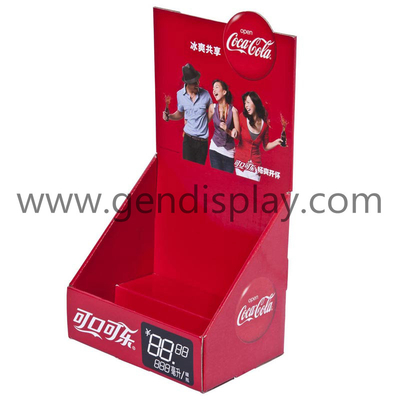 Promotional Cardboard Coca-Cola Counter Beverages Display Box (GEN-CD093)
