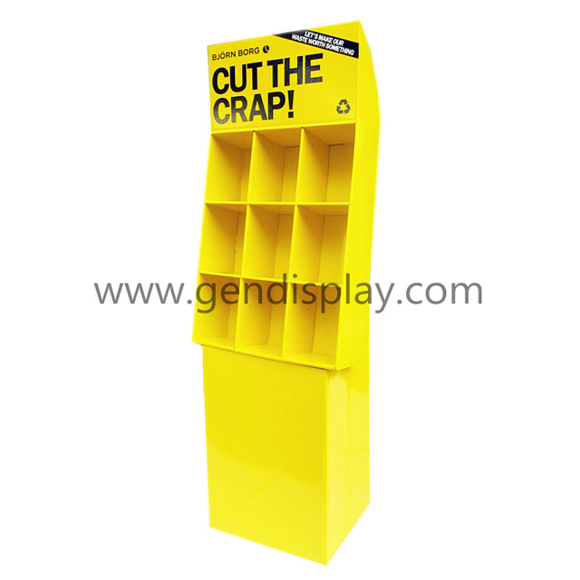Custom Cardboard Compartments Pop Capa Display Stand(GEN-CP158)