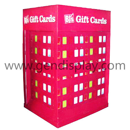 Cardboard Pallet Display Stand For Gift Cards (GEN-PD021)
