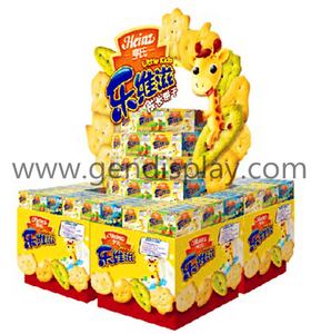 Supermarket Cardboard Biscuit Pallet Display Stand (GEN-PD007)