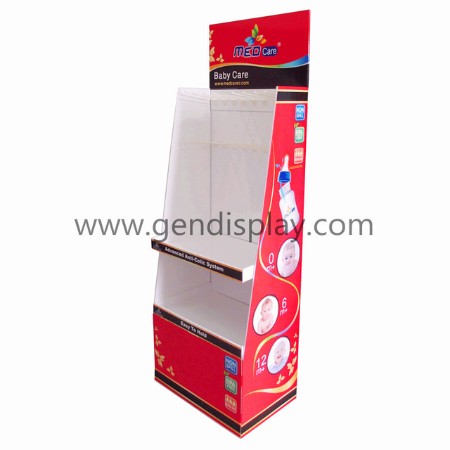 Pos Pop Cardboard Display Shelf For Baby Bottle Promotion(GEN-FD301)