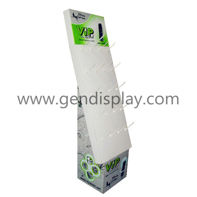 Cardboard Custom Pos Floor Hooks Display Unit(GEN-HD028)