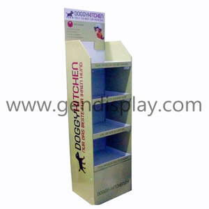 Cardboard Pet Food Display, Doggy Foods Display Stand (GEN-FD102)