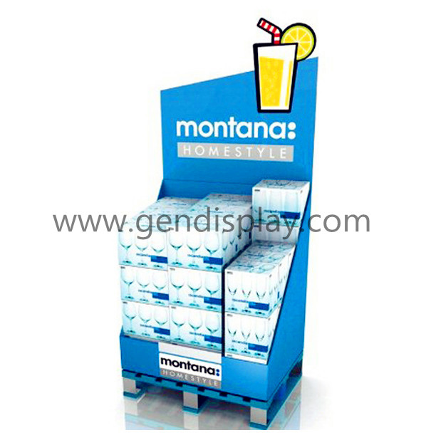 Corrugated Pallet Display Shelf For Beverage(GEN-PD022)