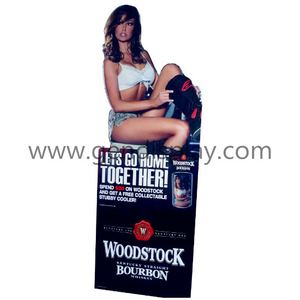 Advertising Cardboard Pos Custom Wine Standee Display(GEN-SD010)