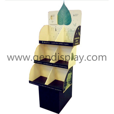 Cardboard Floor Display,Custom Tea Floor Display Stand(GEN-FD225)